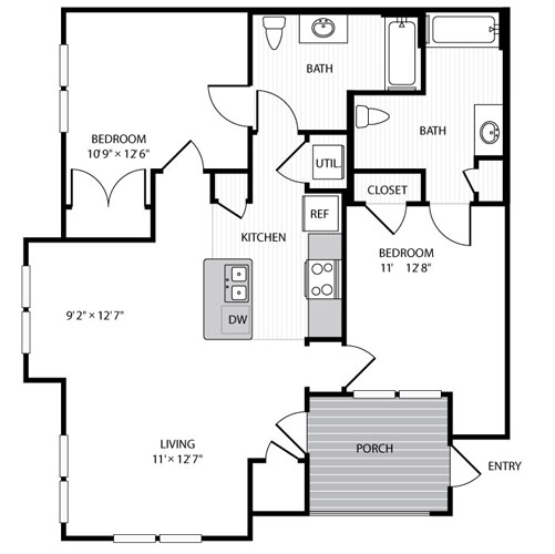 Bedroom floor plan no furniture get your floor plans redrawn today